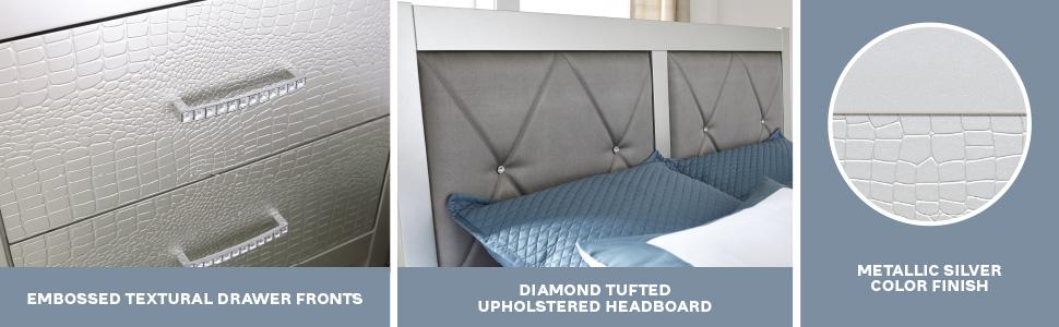 adult children childrens bedroom elegant modern faux contemporary metallic button tufting