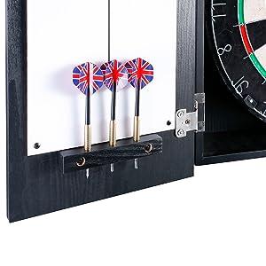 Darts holders for dartboard cabinet