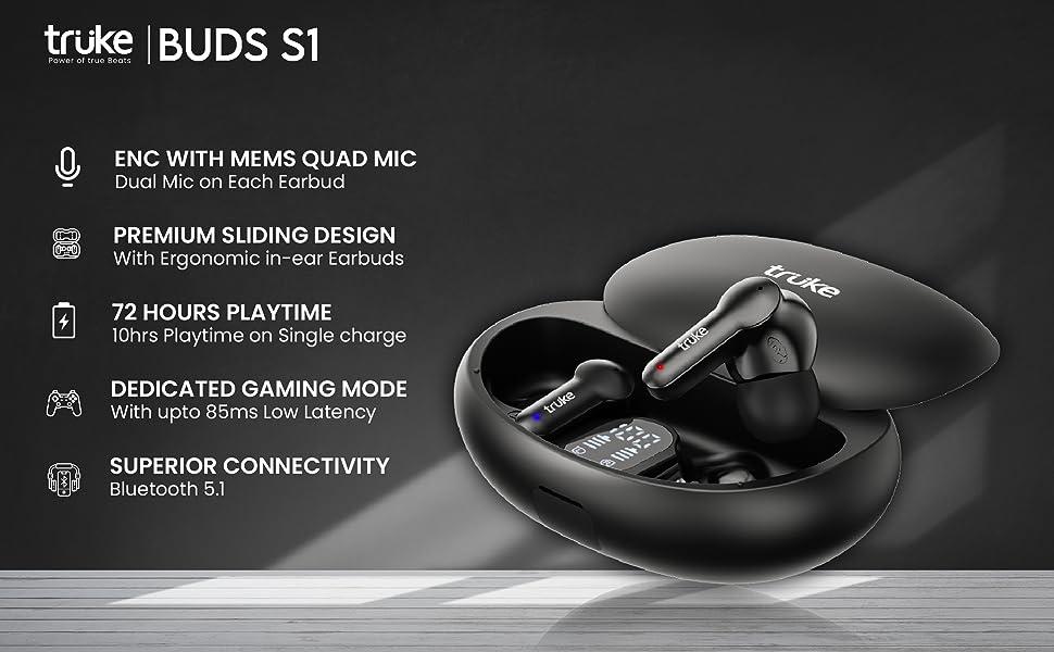truke buds q1 true wireless earbuds bluetooth headphones wireless earphones ear buds headset