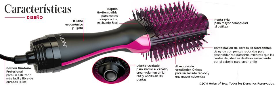 4380ac079 cepillo secador de cabello, secador de pelo profesional, cepillo one step  secador y voluminizador