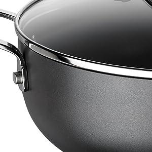 hard anodised casserole