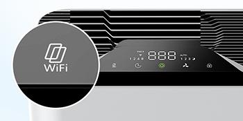 Filtro de Aire para Mascotas Control WiFi Aplicaci/ón para Habitaciones Grandes con 4 en 1 Filtraci/ón Rango de Acci/ón 325 Sq Ft Fumadores y Polen ELECHOMES WiFi Purificador de Aire