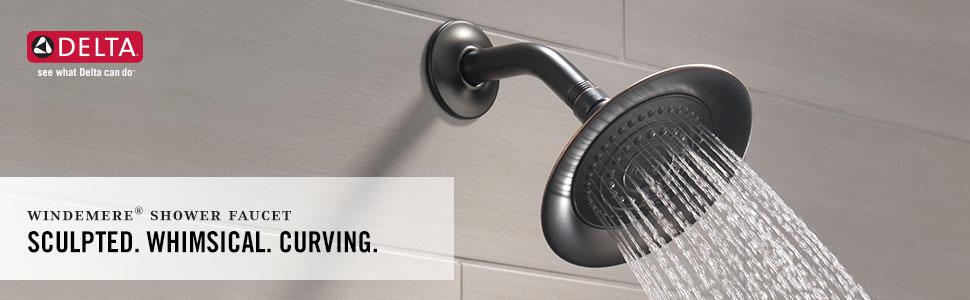 windemere shower faucet tub delta trim kit bathroom bath high pressure shower head