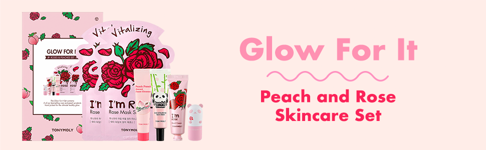 tonymoly kbeauty korean skincare rose and peach products