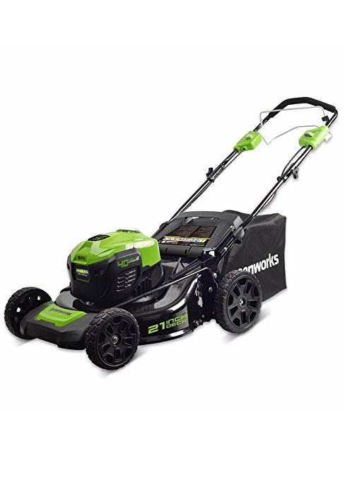 greenworks cordless battery self propelled lawn mower