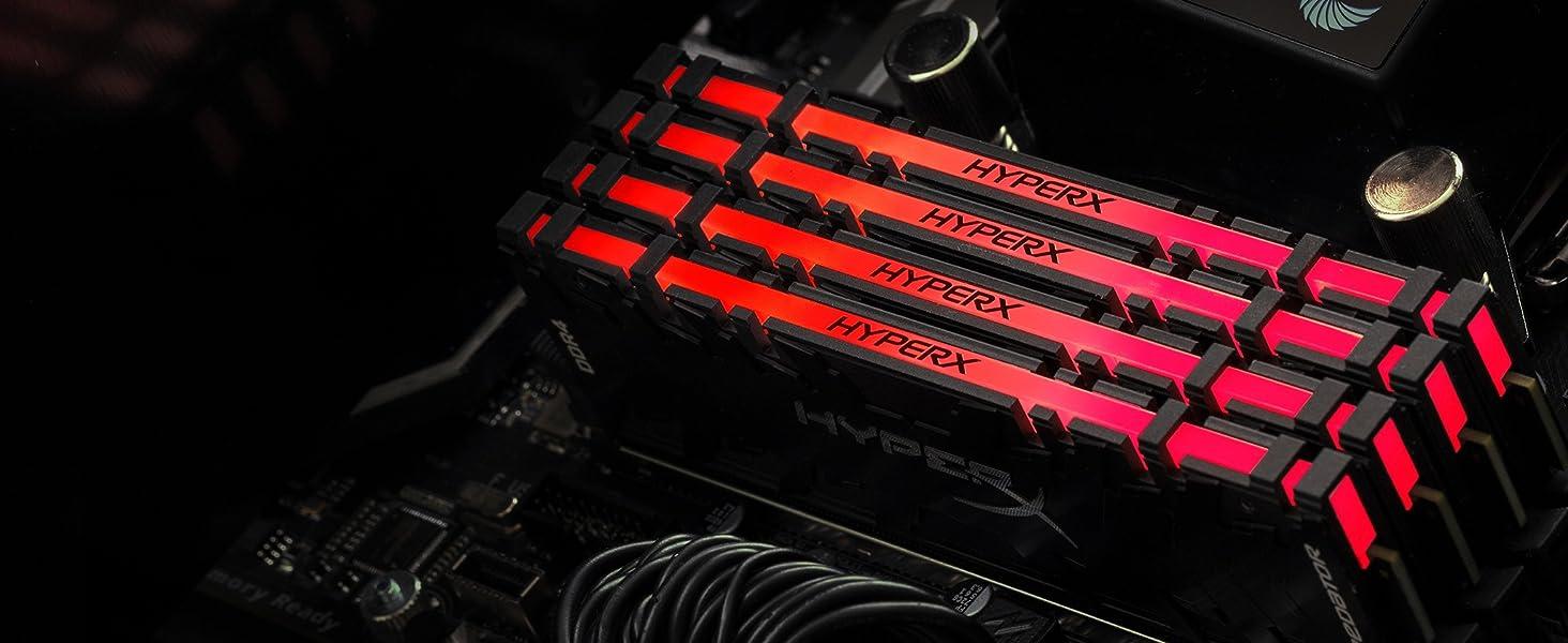 Kingston HyperX Predator DDR4 RGB 16GB kit 2x8 3200MHz CL16 DIMM XMP RAM  Memory Infrared Sync Tech