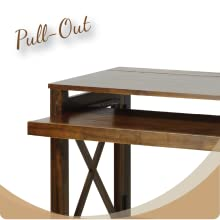 Casual Home 533 33 Montego Folding Desk With Pull Out Tray