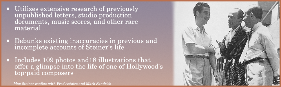 max steiner, music, composer, biography, hollywood, academy awards