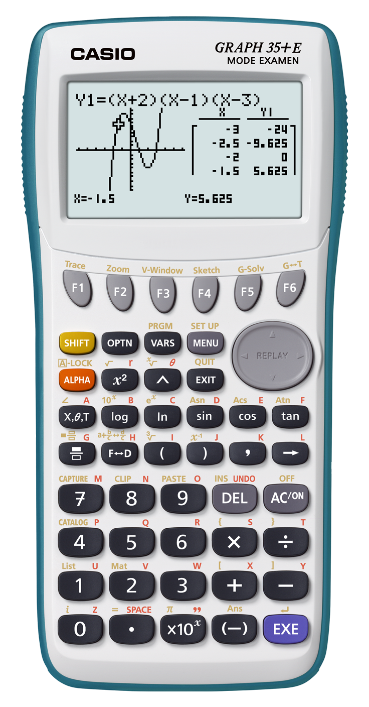 casio graph 35 e calculatrice graphique usb avec mode examen fournitures de bureau. Black Bedroom Furniture Sets. Home Design Ideas