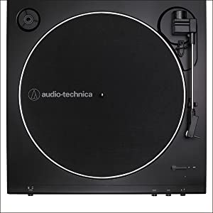 Audio-Technica At-LP60X-BW Fully Automatic Belt-Drive Stereo Turntable, Brown/Black, Hi-Fidelity, Plays 33 -1/3 and 45 RPM Vinyl Records, Dust Cover, ...