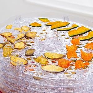 温風で 果物や野菜などを乾燥