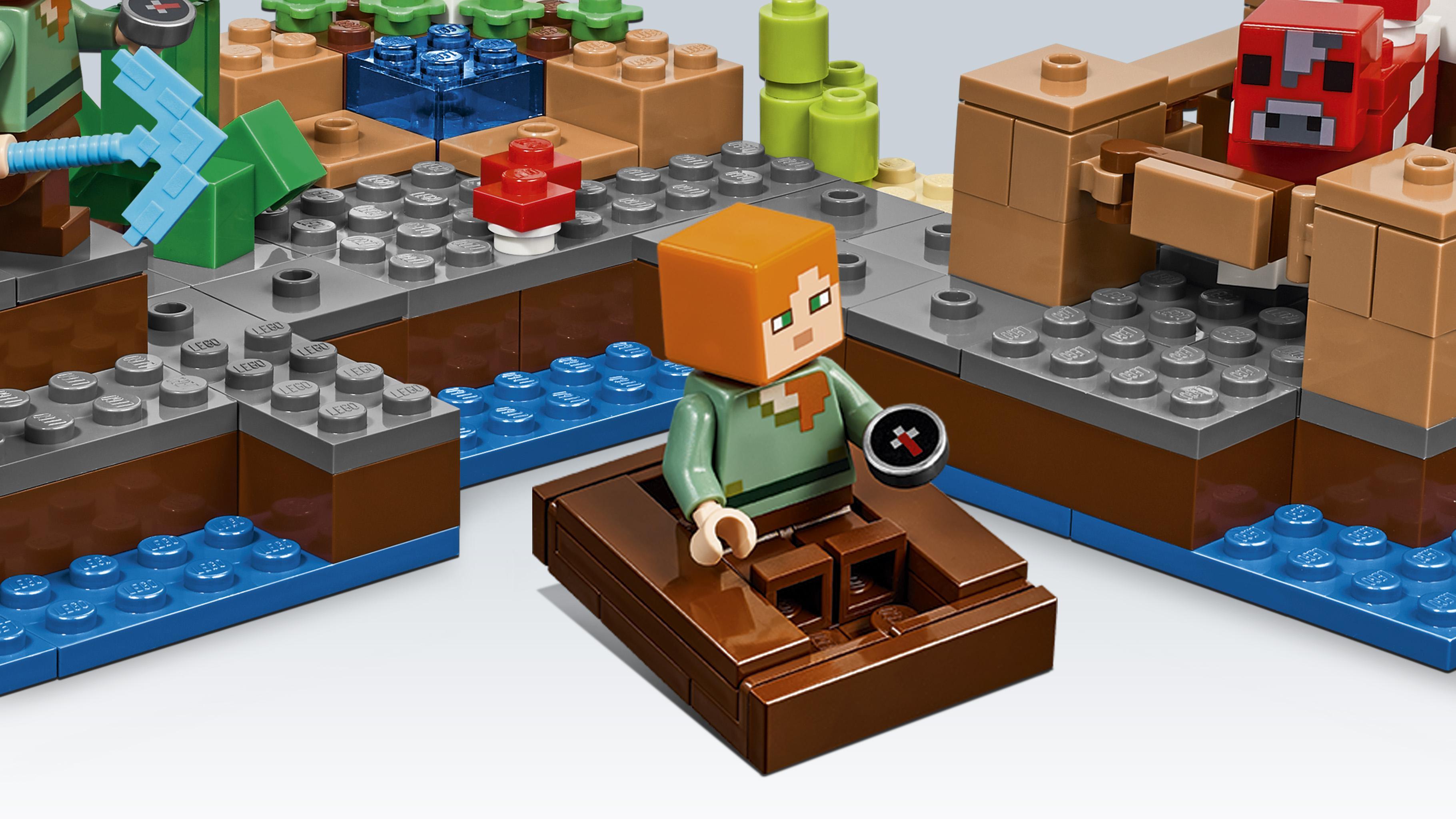 Lego Minecraft The Mushroom Island View Larger 21134 Waterfall Base