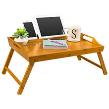 bamboo, breakfast tray, tablet holder, phone holder, optical viewing angles, lapgear, lap desk