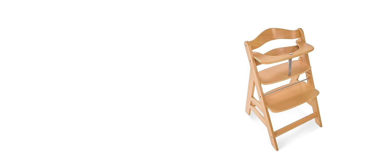 alpha seggiolone pappa di legno evolutivo regolabile in altezza