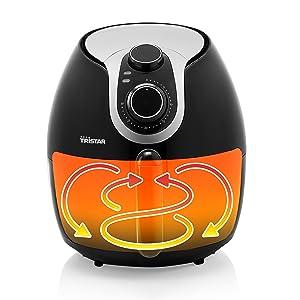 Technologie de la convection à air chaud - Friteuse sans huile Crispy XXL FR-6996 de Tristar