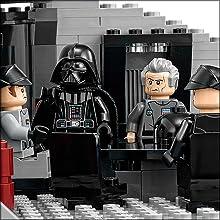 lego death star, darth vader, star wars toys, lego star wars minifigures