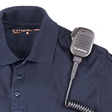 Integrated mic loops at the shoulders and chest