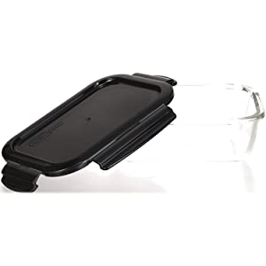 eckig 950 ml Mikrowelle /& zum Einfrieren mit Deckel und Einsatz f/ür Backofen LOCK /& LOCK Frischhaltedosen aus Glas