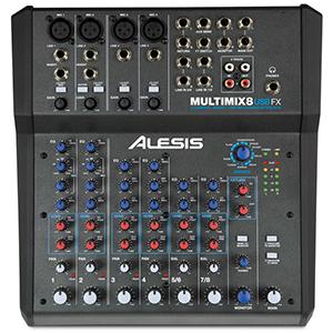 Alesis MultiMix 8 USB FX - Mezclador de estudio compacto de 8 ...