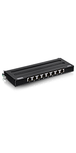 8-Port, Cat6A ,Shielded,Wall Mount,Patch Panel