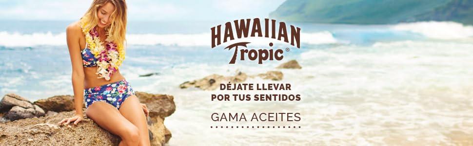hawaiian tropic; aceite solar; aceite protector; aceite seco; bronceador; acelerador bronceado; oil