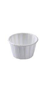 Karat 1.25 oz White Paper Portion Cup