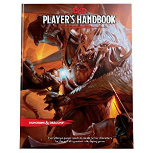 The Player's Handbook fifth edition d&d, rules of dungeons and dragons