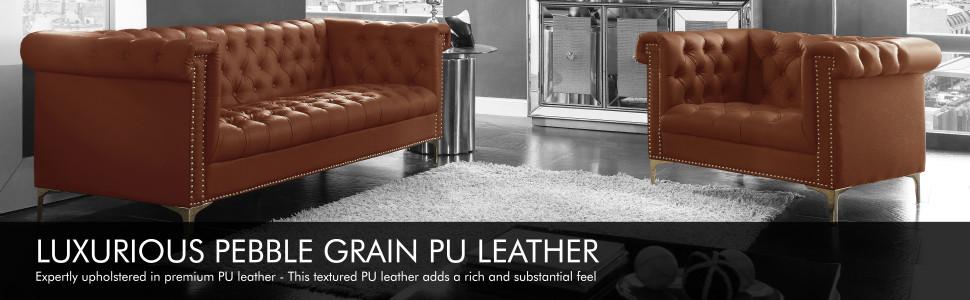 luxurious pebble grain pu leather upholstered premium textured rich