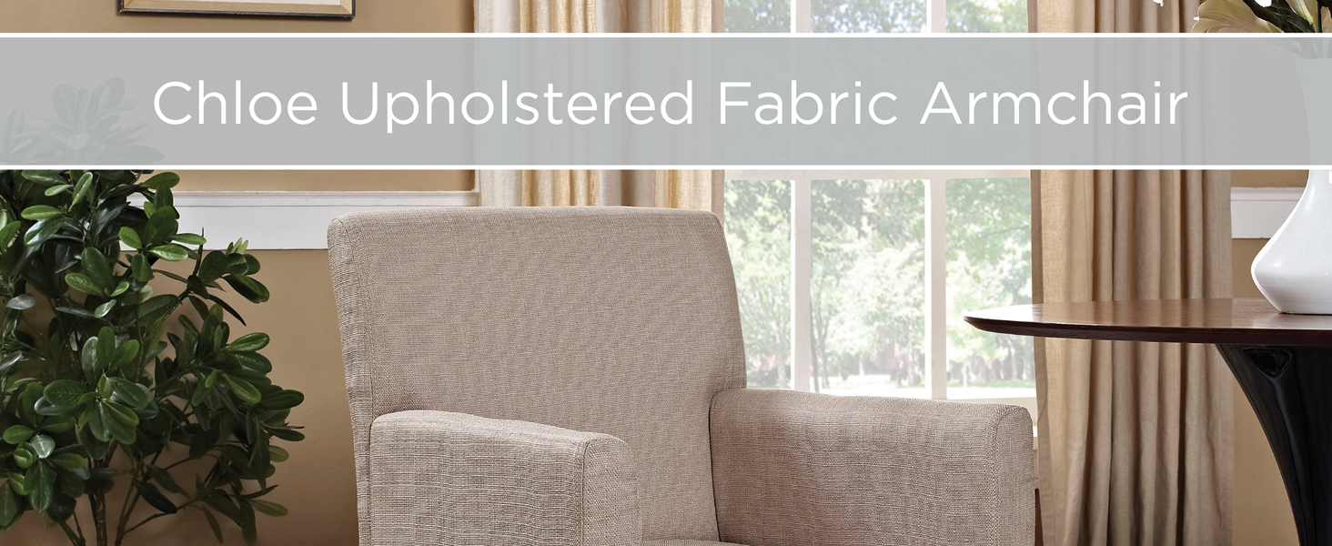armchair,accent piece,comfortable fabric,wooden legs,casual dining,neutral style,office