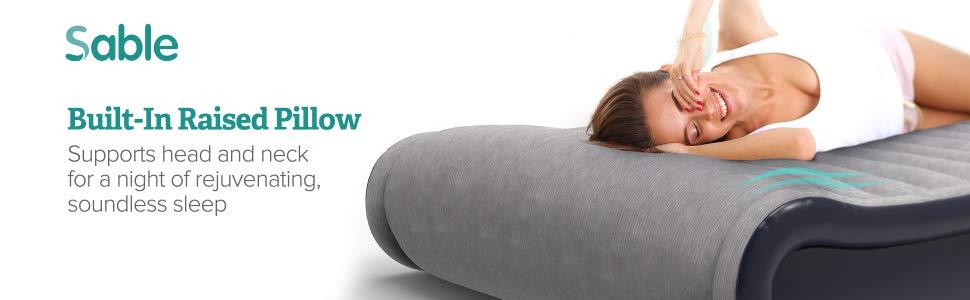Amazon.com: Colchón hinchable de aire Sable con bomba de ...