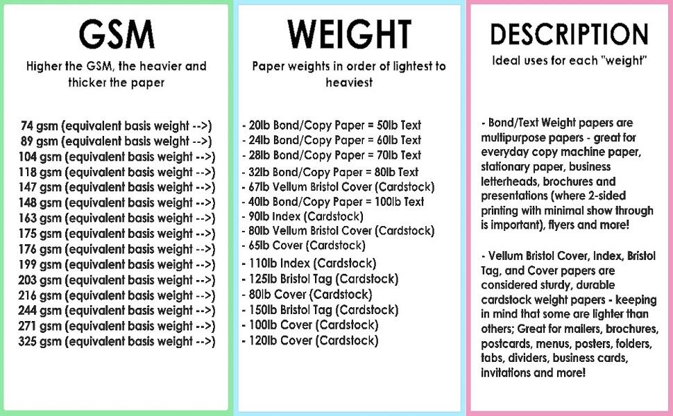 Printer paper, colored paper, colored cardstock, cardstock paper, card stock paper