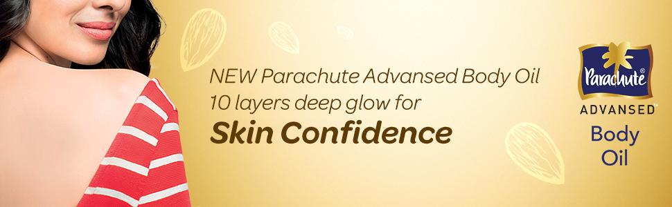 body oil,light,non-sticky,Parachute Advansed Body Oil,Coconut Oil,cocolipid,Almond Oil,soft skin