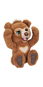 furreal, fur, real, furreal cubby, cubby, cubby bear, bear, plush, interactive