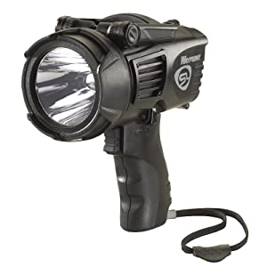 Streamlight 44902 Waypoint LED High-Performance Pistol-Grip Spotlight, black, angled front view.