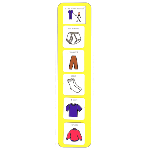Plastic Visual Getting Dressed Schedule English