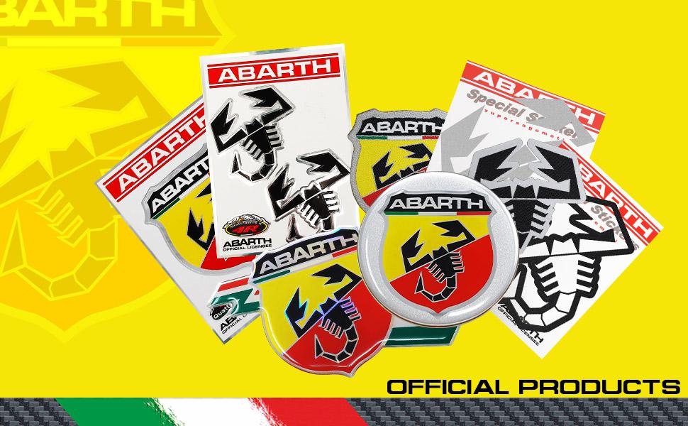 Diametro 50 mm Abarth 21537 Stickers Adesivi 3D Scudetto