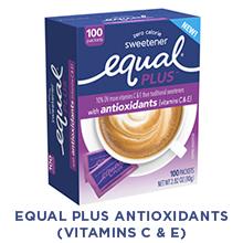 Equal PLUS with antioxidant vitamins C amp; E