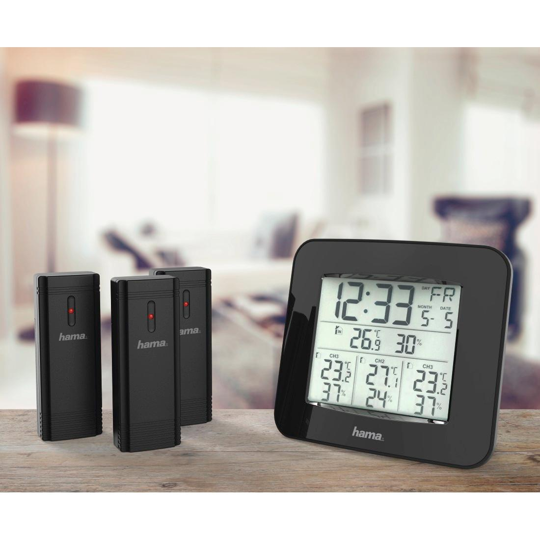 Hama Funk Wetterstation Inkl 3 Au 223 En Sensoren Thermometer Hygrometer Au 223 En 4047443357625 Ebay