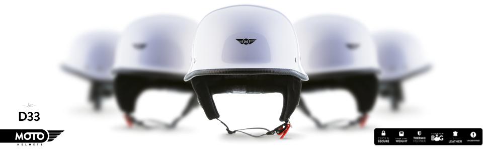 moto d33 white wei jet helm braincap bobber. Black Bedroom Furniture Sets. Home Design Ideas