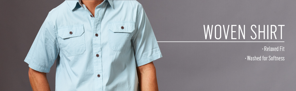Authentics Short Sleeve Woven Shirt