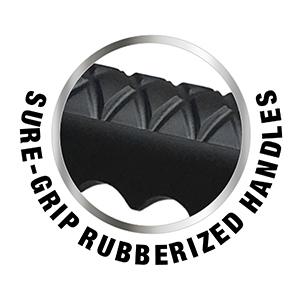 Sure-Grip Rubberized Handles