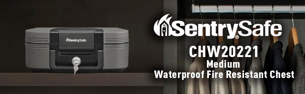 SentrySafe Fire Safe, Waterproof Fire Resistant Chest, 0.28 Cubic Feet