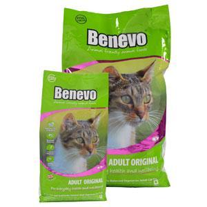Benevo Katzenfutter Vegan in der 2kg oder 10g Packung
