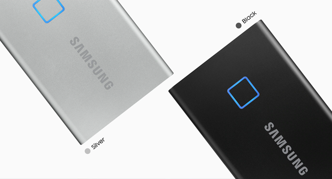 Product images of silver and black SSD