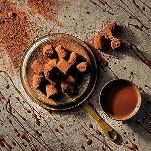 choccy scoffy chocolatey cocoa dusted truffles monty bojangles chocolate box luxury gift delicious
