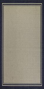 Gertmenian 22027 Tropical Modern Outdoor Rug Simple Patio Carpet 2x6 Runner Abstract Medallion Tan