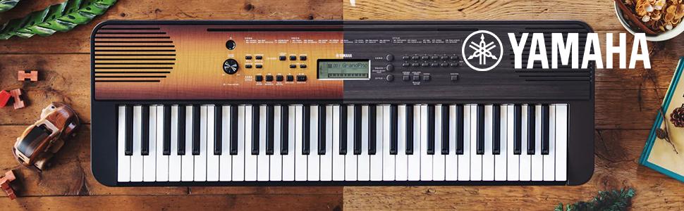 Yamaha PSR-E360 - Teclado digital portátil con 61 teclas sensibles a la pulsación para una mayor expresividad, color Negro (arce)