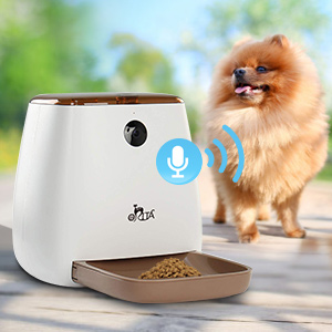 Orita 12 Meals SmartFeeder,Auto Pet Dog and Cat Feeder, 1080P HD WiFi Pet Camera with Night Vision for Pet Viewing,Compatible with Alexa,2-Way Audio ...