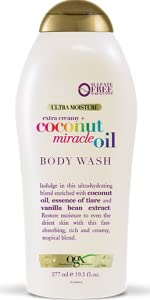 ogx organix coconut miracle oil ultra hydrating body wash soap sulfate free