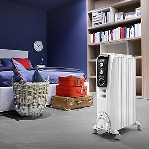 TRD41500MT; portable heater; electric heater; oil heater